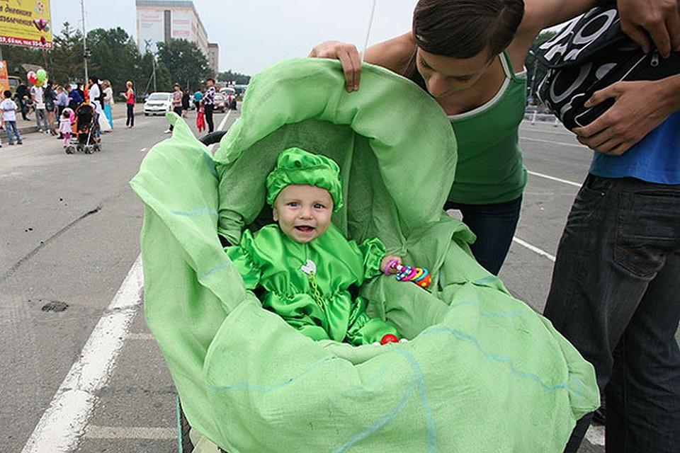 Как сделать коляску капусту на парад