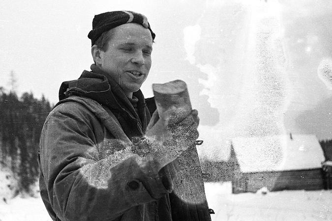 Юрий Юдин во время рокового похода дятловцев