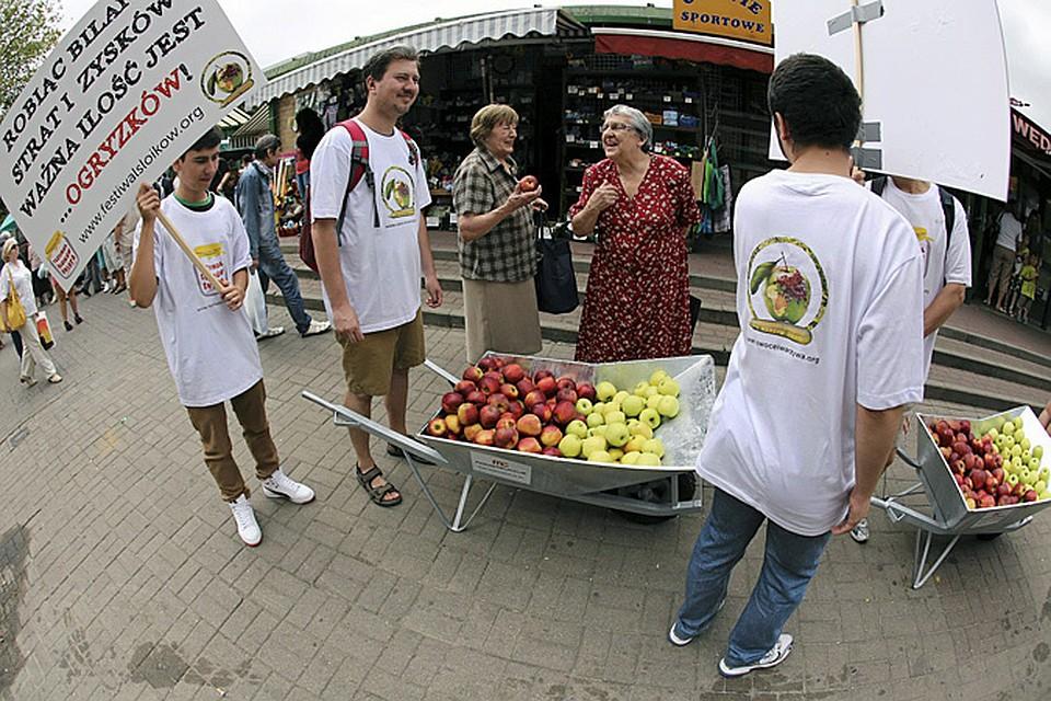 Патриотично настроенные поляки предлагают своим согражданам самим съесть яблоки предназначенные для экспорта в Россию