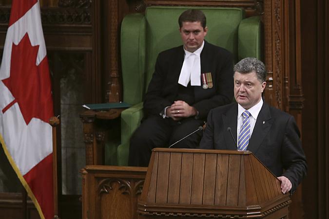 Петр Порошенко съездил с рабочим визитом в Канаду