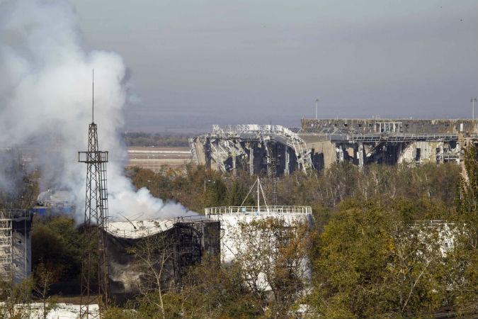 Вид на аэропорт Донецка, 4 октября