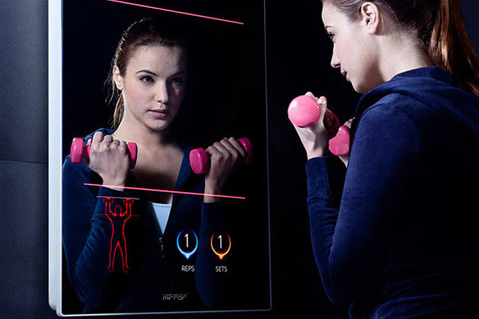 Зеркало Cybertecture Mirror сможет стать вашим персональным фитнес-тренером.