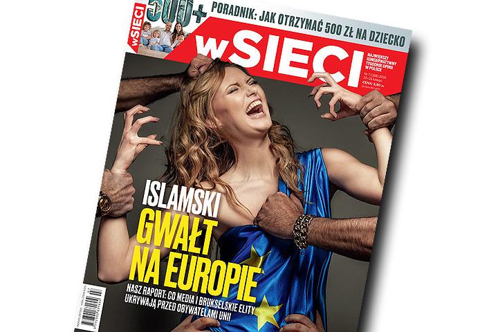 Эта фотография на обложке польского журнала вызвал скандал.