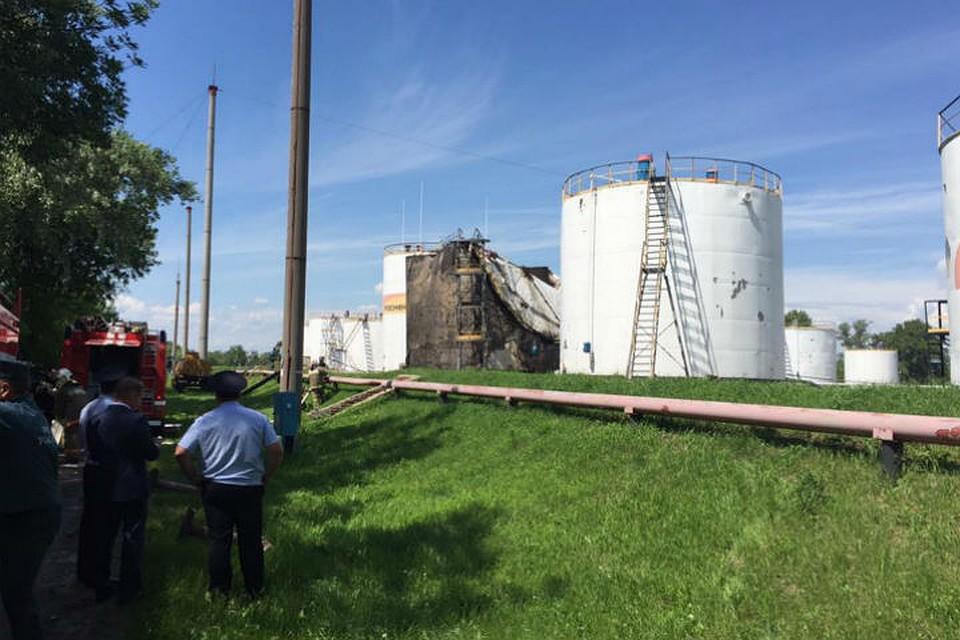 2 человека пострадали в итоге взрыва нанефтебазе вТамбове
