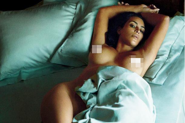 Ким Кардашьян снялась для журнала GQ. Фото: Инстаграм.