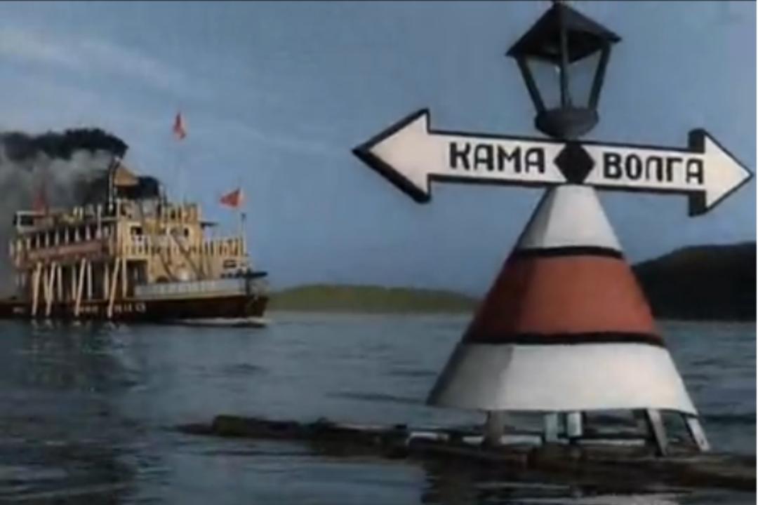 """Кадр из кинофильма """"Волга - Волга""""."""
