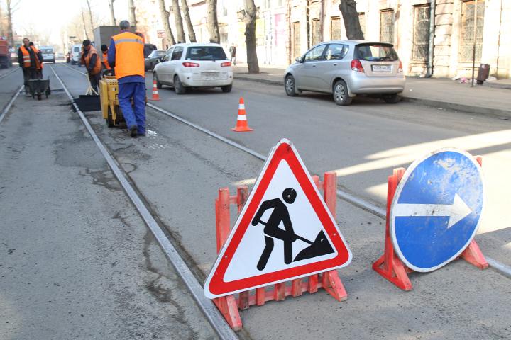 ВИркутске нанескольких дорогах ограничили движение транспорта
