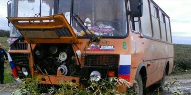ВРомненском районе вкювет сошел пассажирский автобус