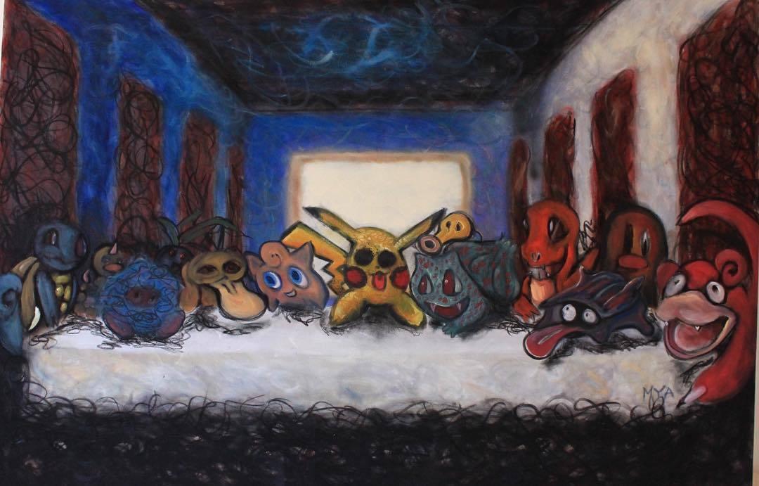 Помотивам акции Руслана Соколовского художник Степан Мянник написал картину