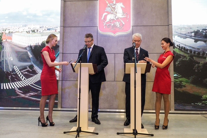 Губернатор Ставропольского края имэр столицы договорились осотрудничестве