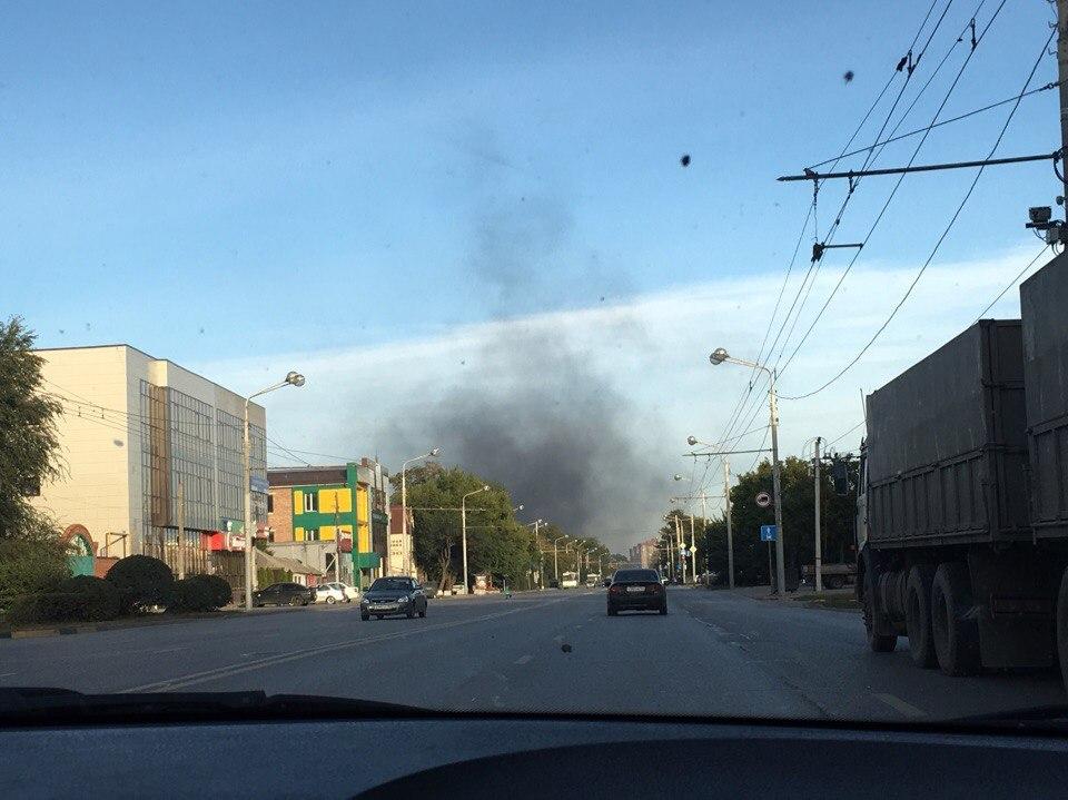 ВРостове около стадиона «Локомотив» сгорел автобус