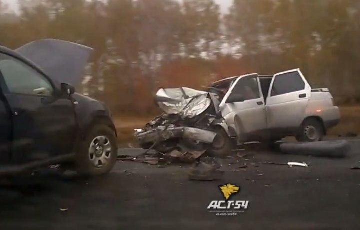 Натрассе вНовосибирской области влобовом столкновении погибли два человека