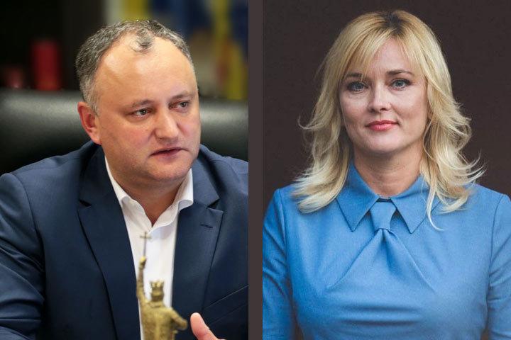 Игорь Додон, Инна Попенко