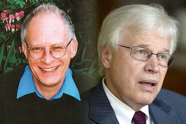 Тандем ученых Оливер Харт (слева) и Бенгт Хольмстром получили Нобелевскую премию по экономике.