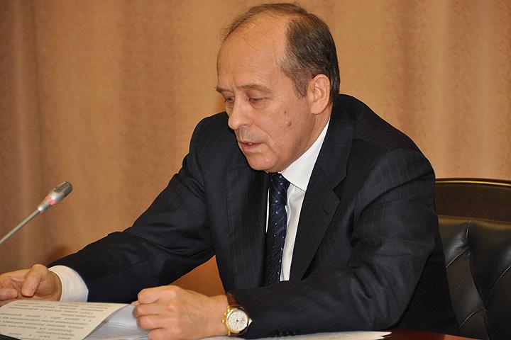 Директор ФСБ Александр Бортников на заседании Национального антитеррористического комитета.