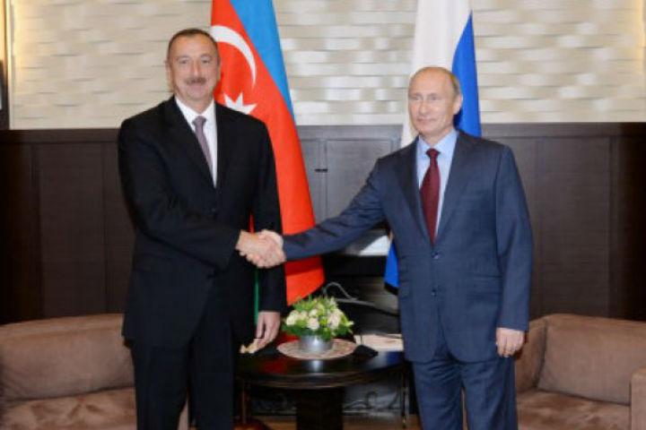Президентов Азербайджана и России много лет связывают теплые и искренние дружеские отношения.