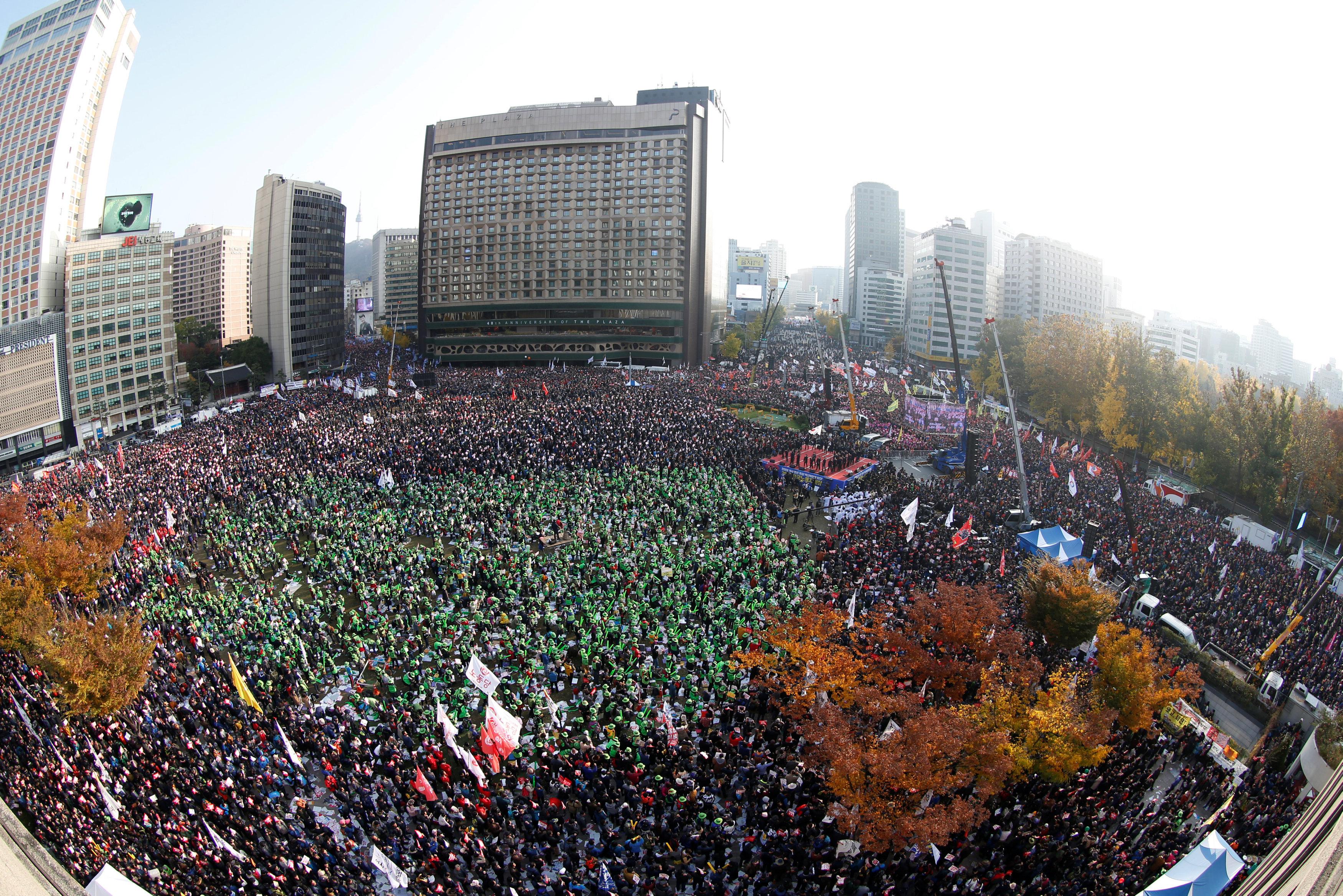 ВСеуле началась масштабная демонстрация заотставку президента Южной Кореи