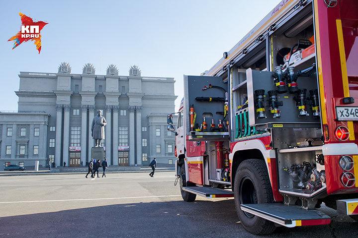 В Самаре на площади Куйбышева прошла выставка современной пожарной техники.