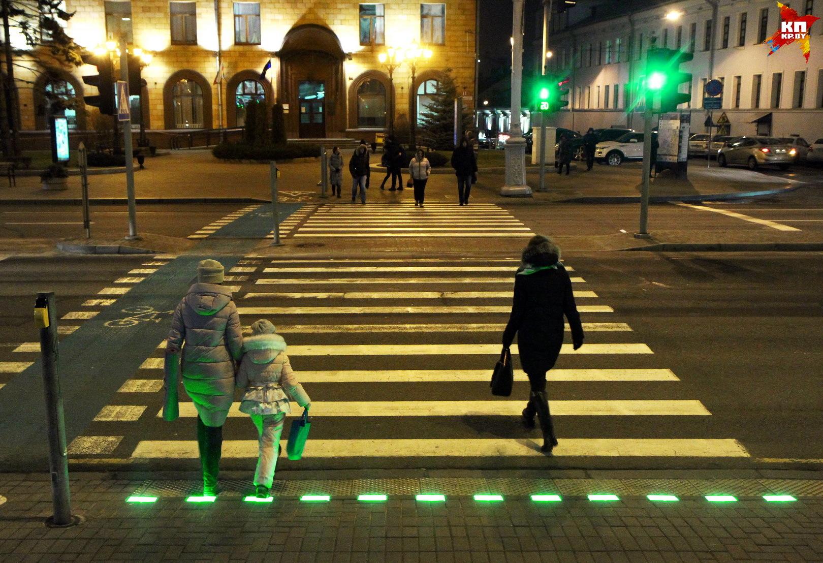 Такого вида светофор в Минске - первый.