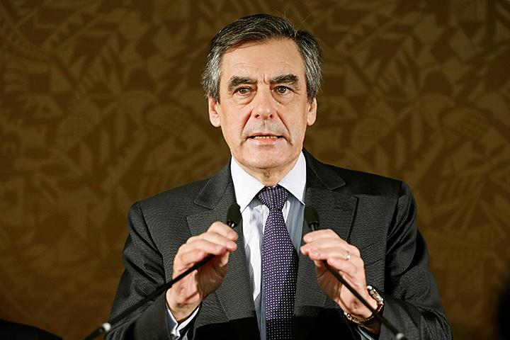 Кандидат от правоцентристской оппозиции Франсуа Фийон