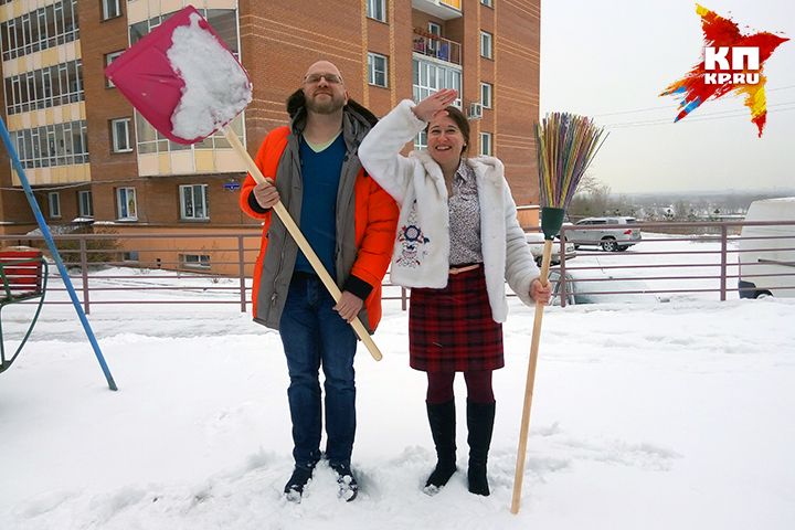 «Комсомолка» подарила красноярцам полезный инвентарь