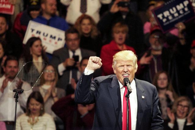 О своем решении Дональд Трамп объявил на митинге в Цинциннати