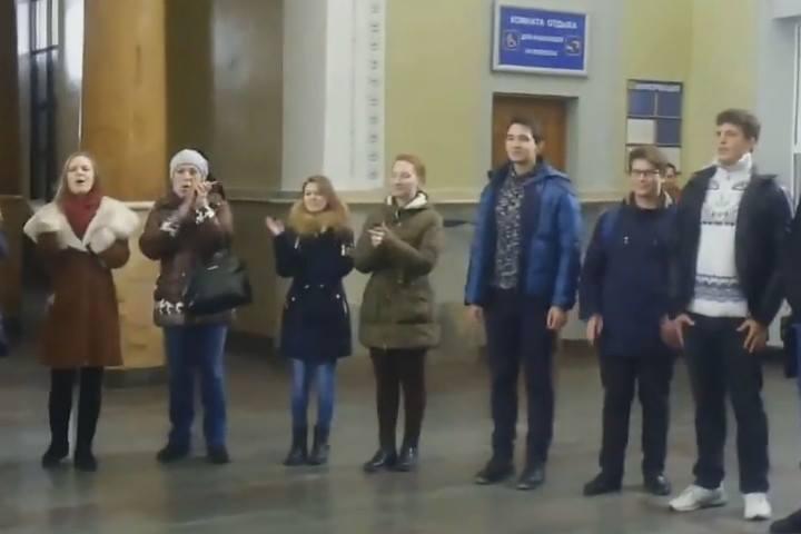ВТирасполе: Песенный флешмоб