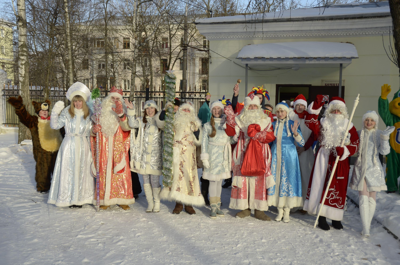 ВРиге состоялся забег Дедов Морозов
