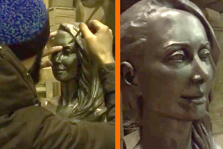 Сестра Жанны Фриске показала фанатам монумент эстрадной певице