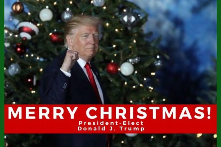 Д.Трамп поздравил всех сРождеством