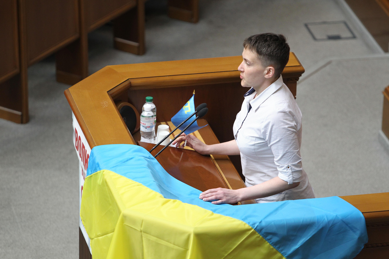 Н.Савченко считает, что конфликт наДонбассе можно решить за2 месяца