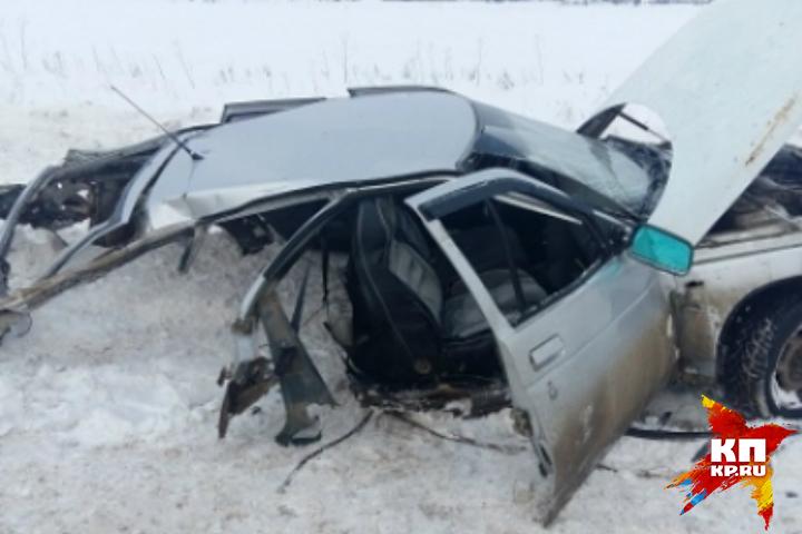Мужчина умер  в итоге  столкновения 2-х  авто  вГлазовском районе Удмуртии