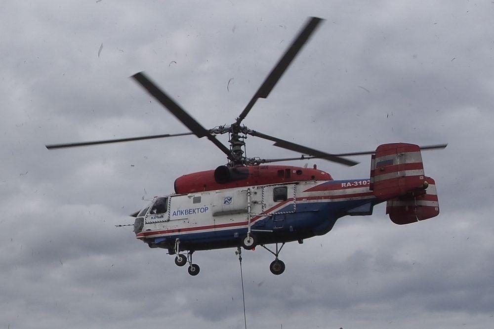 ВТульской области экстренно сел вертолет МЧС