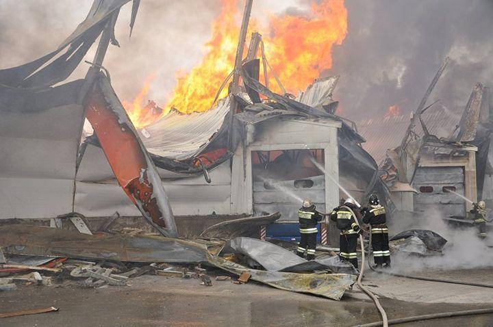 ВСтаврополье локализовали пожар намебельном складе
