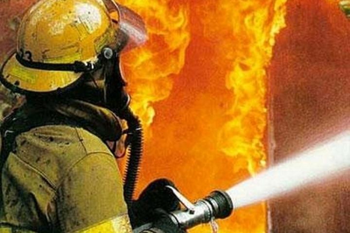 На19-й линии В. О. тушили пожар вотделе милиции