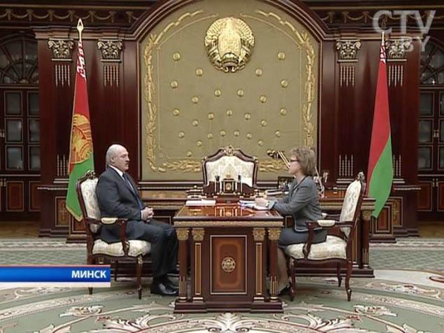 Александр Лукашенко и Марианна Щеткина. Фото: ctv.by