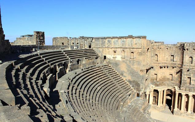 На Юге Сирии в провинции Дераа, в городе Бусра поврежден крупнейший античный амфитеатр Сирии