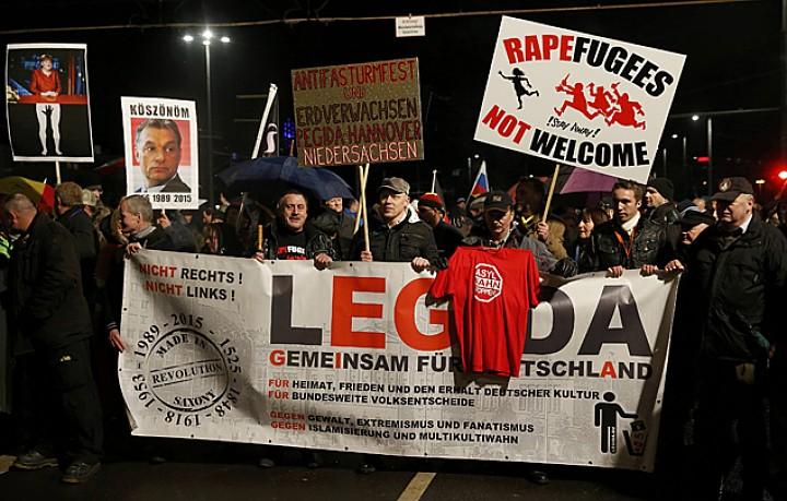 Партия ПЕГИДА - против исламизации Европы Фото: REUTERS