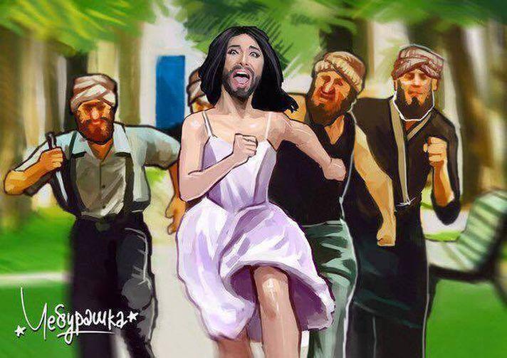 Популярная в интернете карикатура. Рисунок: Чебурашка | Мастерская Карикатуры.