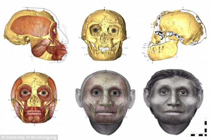 Этапы восстановления настоящего лица хоббита.