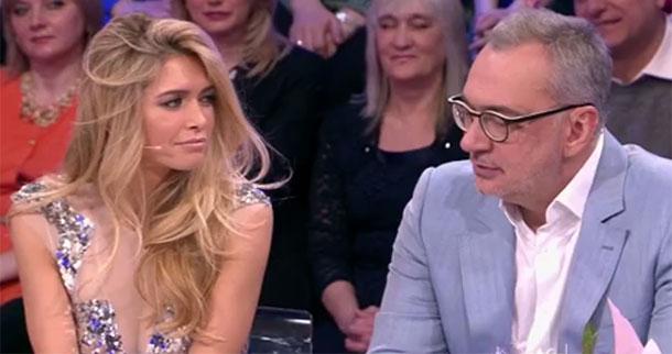 Вера Брежнева и Константин Меладзе стали гостями программы «Сегодня вечером» на Первом канале. Фото: кадр программы.