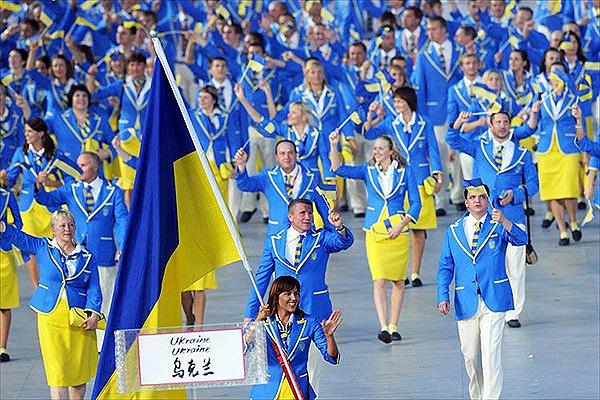 Сборная Украины на Олимпиаде в Пекине в 2008 году. Фото: REUTERS