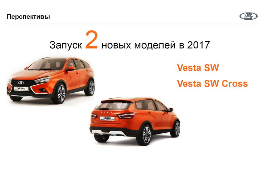 «АВТОВАЗ» анонсировал выпуск 2-х новых моделей семейства Vesta в 2017