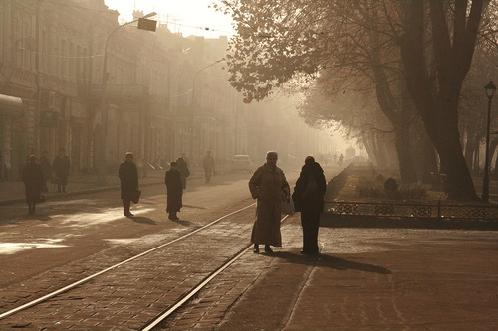 Владикавказ укрылся туманом и стал еще очаровательней.