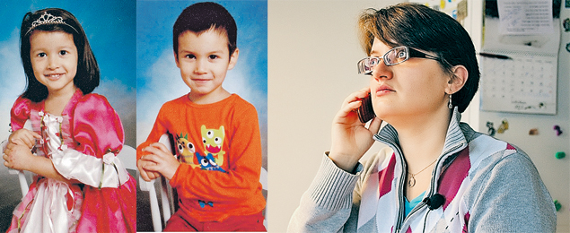 Альбина Касаткина может видеться сосвоими детьми Вивиан и Лукасом (на фото слева) только два дня в неделю.