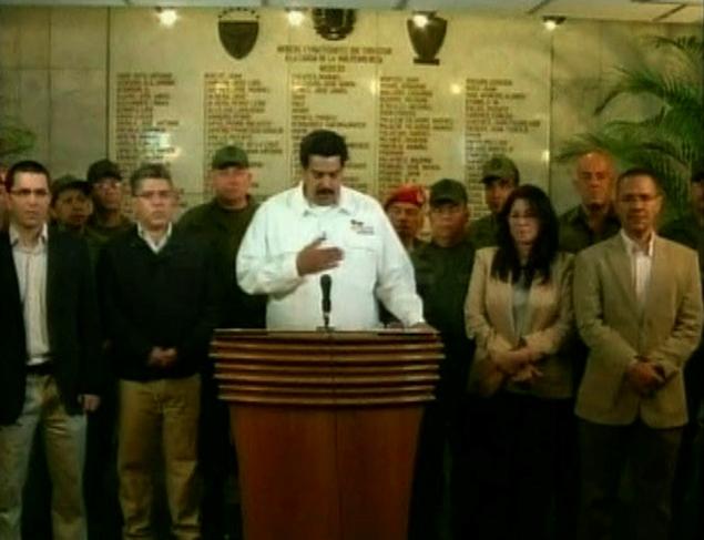 Вице-президент Николас Мадуро, которого сам Уго Чавес назвал в качестве своего преемника, сообщил о смерти президента в эфире государственного телевидения Фото: REUTERS
