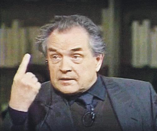 Александр Зиновьев: «Допустите тысячу партий, и они все превратятся в политические мафии».