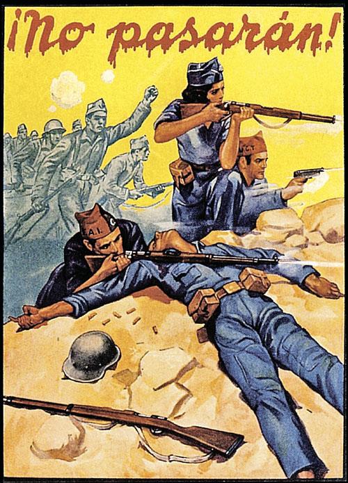Парни словно сошли с плаката 1936 года, когда их деды воевали с франкистами под лозунгом «Они не пройдут!»