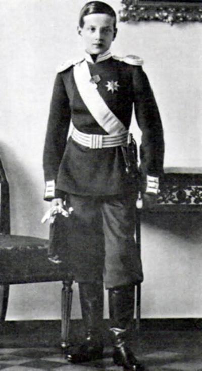 Великий князь Дмитрий Павлович, которого с 1905 года воспитывал Николай II. Фактически - приемный сын