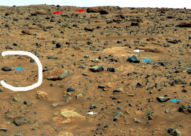 """Снимок с сайта НАСА: """"голова"""" обведена."""